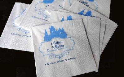 Serviettes papier personalisées
