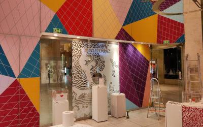 Déco Boutique Swatch Louvre en Toile Tendue